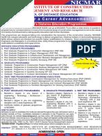 Ad_SODE Nicmar Construction Managment