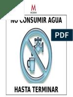 Cartel de No Consumir Agua