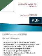 Materi Kadarzi Untuk Refresh Kader 2016