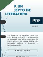 Hacia Un Concepto de Literatura