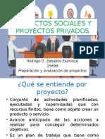 Proyectos Sociales y Proyectos Privados