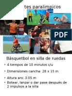 Deportes Paralimpicos y Clasif. Dep.