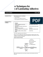 Lamination Techniques for Converters of Laminating Adhesives