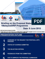 Briefing Session on Proposal Status Under 1malaysiagrip