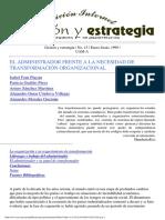 EL ADMINISTRADOR FRENTE A LA NECESIDAD DE TRANSFORMACIÓN ORGANIZACIONAL