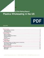 42461 Plastics Wholesaling in the US Risk Ratings Report