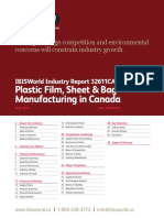 32611CA Plastic Film, Sheet & Bag Manufacturing in Canada Industry Report