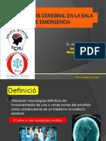 Trombolisis Cerebral en La Sala de Emergencia