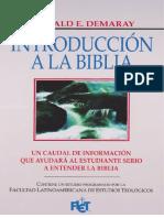 Introduccion a La Biblia - Donald Demaray