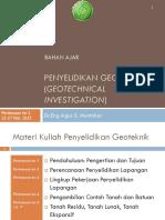 Penyelidikan Geoteknik Minggu 1 3