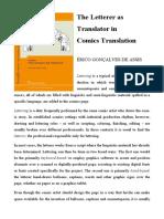 The Letterer as Translator in Comics Tra
