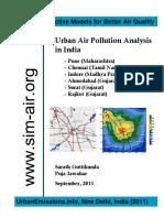 Urban Air Pollution Analysis - India 6 Cities 2011 09 13