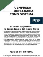 La Empresa Agropecuaria Como Sistema