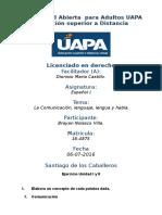Tarea 1 Unidad I y II Español I 06-07-2016