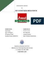 Amul internship file