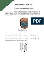 Estructura Cristalina Hexagonal Compacta
