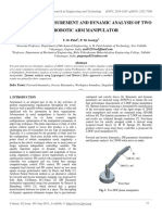 Performance Measurement and Dynamic Analysis of Two Dof Robotic Arm Manipulator