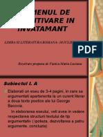 rezolvarea subiectelor definitivat limba romana- 2013 , lucrare notata cu 10.ppt