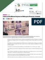 21-07-2016 Colocan 50 millones de pesos en Bolsa para financiar vivienda