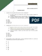 MA09E Probabilidades - Ejercicios