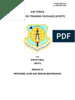Military - US Air Force - AFQTP - 3E3X1-25 - Structural,Concrete,Masonry,Carpentry,Welding