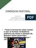 Dimensión Pastoral en seminarios