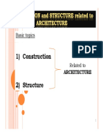 Lecture 5 Construction and Structure Related to Architecture