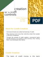 Credit Creation & Credit Controls