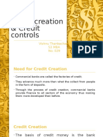 Credit Creation & Credit Controls