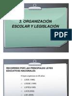3.- Tema 1-2a Parte - OrganizacionEscolar y Legislacion