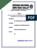 3. Test de Aptitud Matemática Geometria