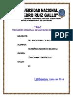 11. Producción Intelectual de Martiniano Roman Perez