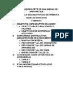 14. Planificación Corta de Una Unidad de Aprendizaje
