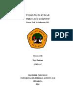 Review Memori - Buku Psikologi Kognitif Prof. Harnan MS.
