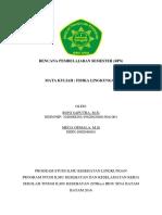 Rencana Pembelajaran Semester Fisika Lingkungan