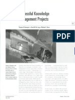 Successful Knowledge Management Projects