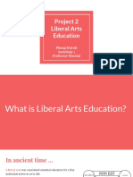 project 2  liberal arts education