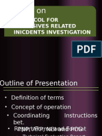 Primer  on Protocol for Explosive Related Incidents  Investigation.pptx