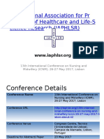 13th International Conference on Nursing and Midwifery (ICNM), 26-27 May 2017, Lisbon