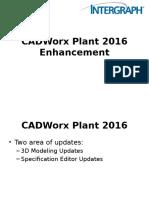 CADWorx Plant 2016 Enhancement