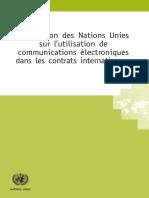 Convention Des Notions Unies Sur l'Utilisation de Communication Électronique Dans Les Contarts Internationaux