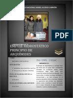 224112785 Informe de Laboratorio Empuje Hidrostatico