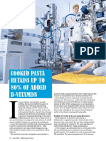 Cooked pasta retains up to 80% of added b-vitamins