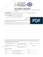 Incident Report Form SCIS