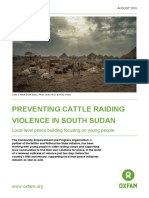 Preventing Cattle Raiding Violence in South Sudan