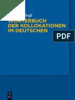 Wörterbuch Der Kollokationen