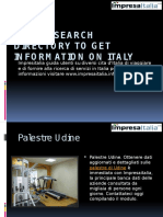 Use of Search Directory to Get Information on Italy