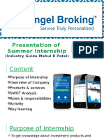Summer Internship of angel broking