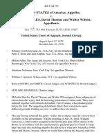 United States v. Malcolm Bowles, David Thomas and Walter Wilson, 428 F.2d 592, 2d Cir. (1970)