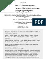 Thelma Billiar v. Minnesota Mining and Manufacturing Company, Defendant/third Party Plaintiff v. Mennen-Greatbatch Electronics, Third Party, 623 F.2d 240, 2d Cir. (1980)